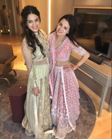 Sakshi Dhoni with Poorna Patel