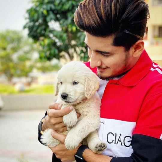 bhavin bhanushali with a dog