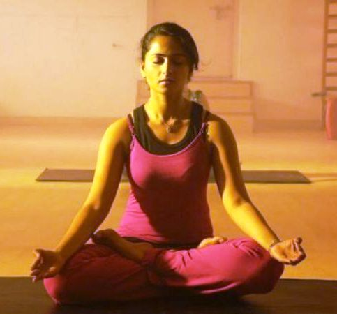Anushka Shetty doing yoga