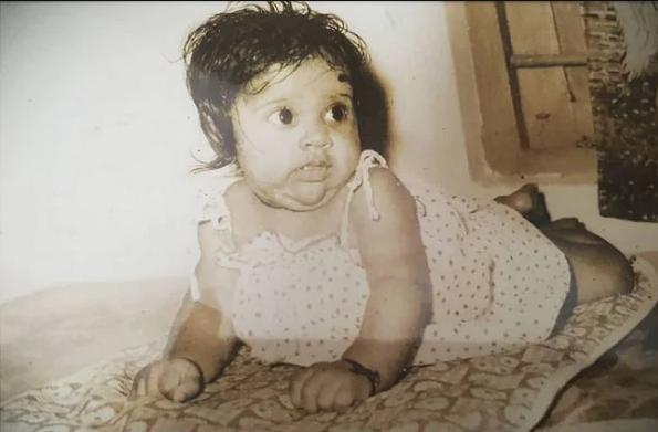 Rashmi Gautam Childhood Picture