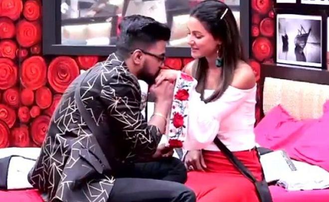 Rocky Jaiswal with Hina Khan in Bigg Boss