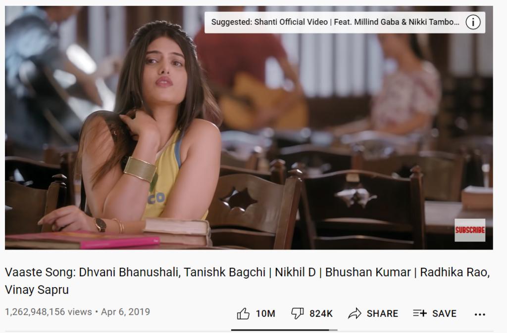 Anahita Bhooshan in Vaaste song