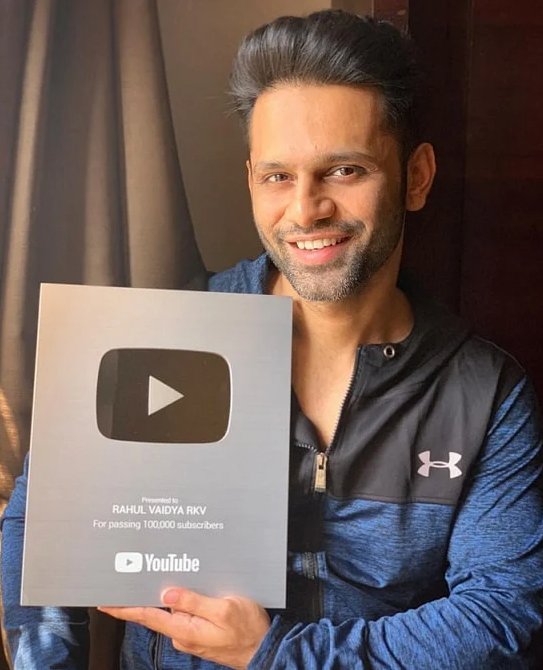 Rahul Vaidya YouTube Silver Play Button