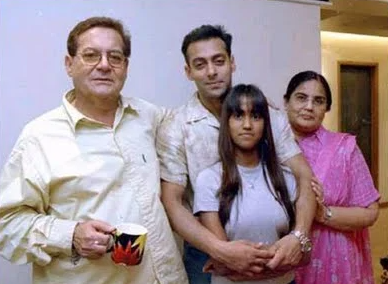 Salman Khan with his Father, Mother and Sister